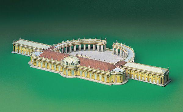 """Card model """"Sanssouci Potsdam"""""""