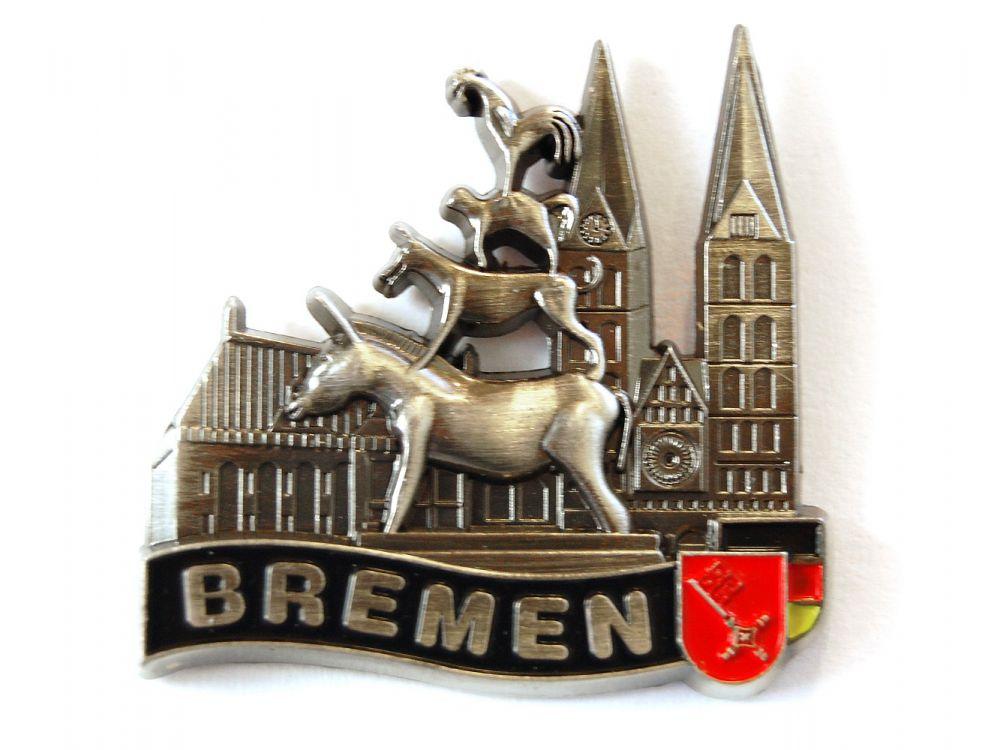 Relief magnet bremen aus metall silberfarben ebay for Souvenir shop hannover