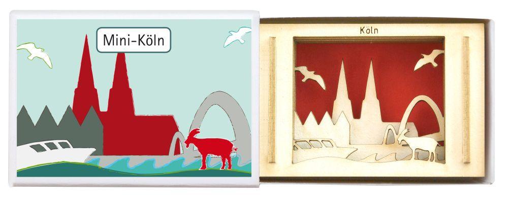 city souvenir souvenirs aus deiner stadt miniatur silhouette k ln aus holz. Black Bedroom Furniture Sets. Home Design Ideas