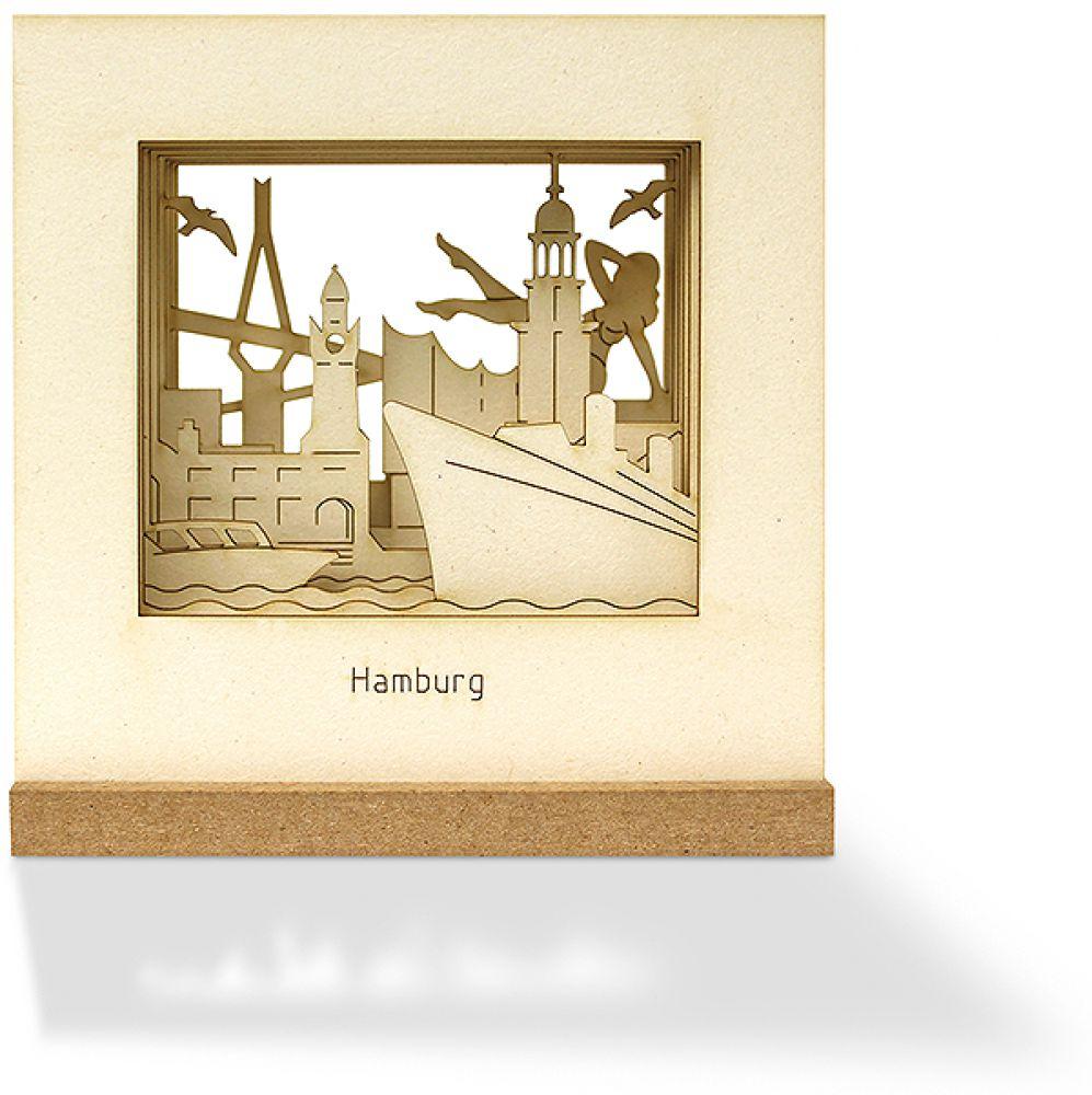 city souvenir souvenirs aus deiner stadt silhourama motivstecksatz hamburg diorama. Black Bedroom Furniture Sets. Home Design Ideas