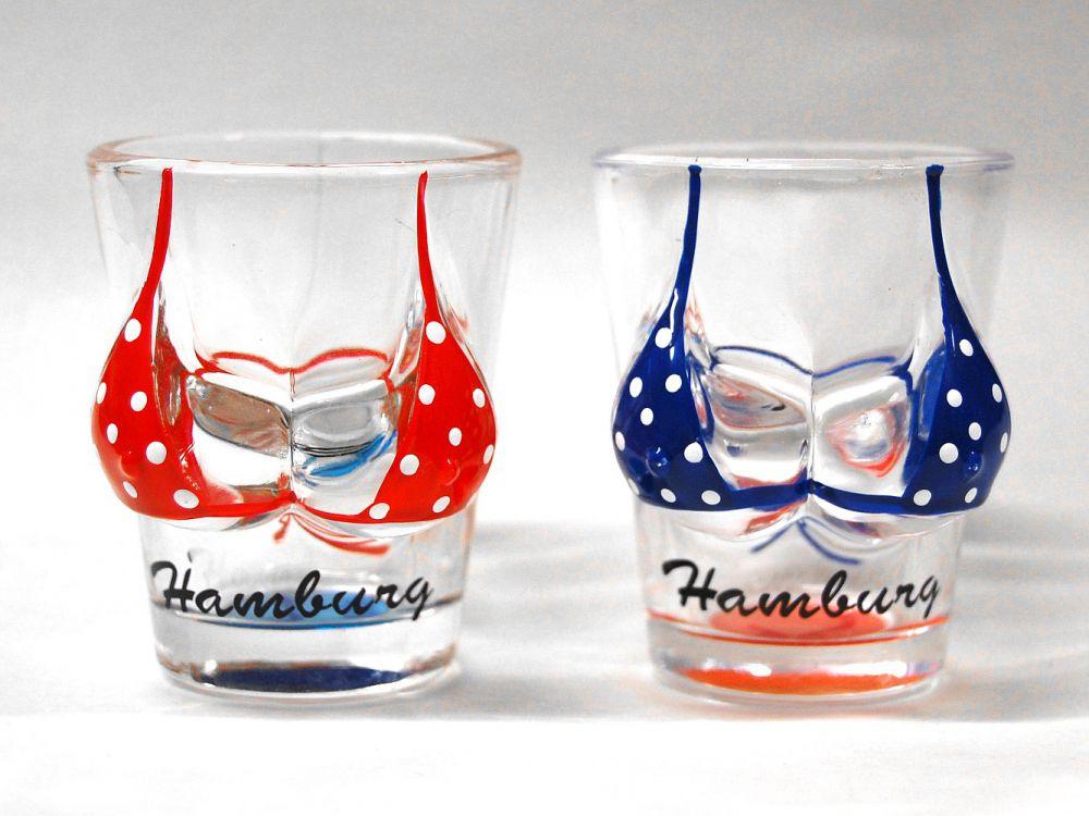Stamper set hamburg bikini zwei schnapsgl ser ebay for Souvenir shop hannover