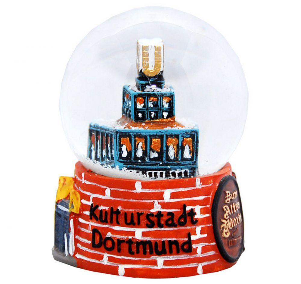 Relief schneekugel kulturstadt dortmund handbemaltes for Souvenir shop hannover