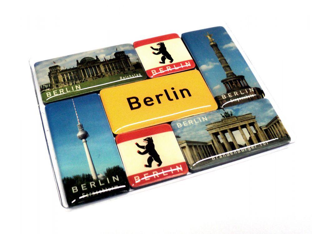 Deko magnet set berlin 7 teilig souvenir k hlschrank magnete for Souvenir shop hannover