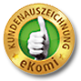 Top-rated online shop on eKomi.de